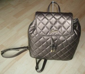 Guess Crossbody bag bronze-colored polyester