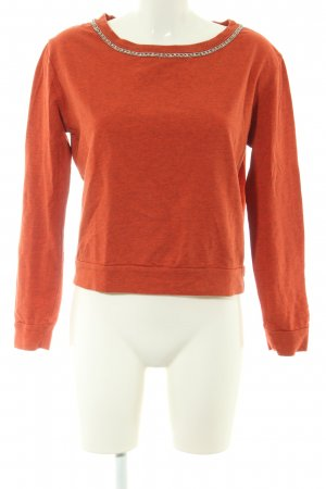 Guess Crewneck Sweater light orange flecked casual look