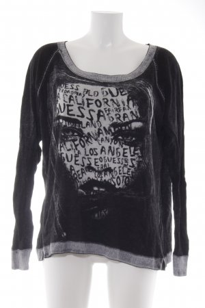 Guess Rundhalspullover abstraktes Muster Casual-Look
