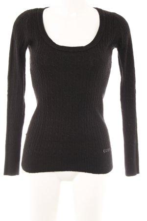 Guess Rundhalspullover schwarz Street-Fashion-Look