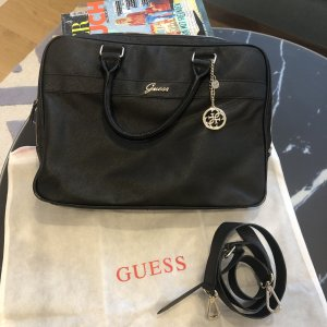Guess Funda para portátil negro-color oro