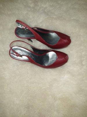 Guess Platform Sandals bordeaux