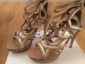 Guess Platform Sandals gold-colored-light brown