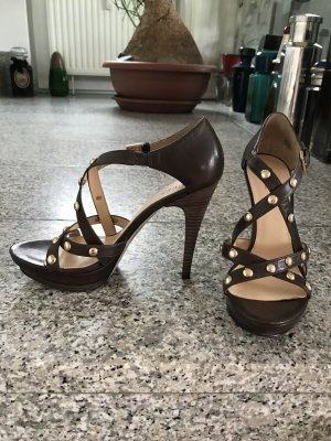 Guess by Marciano High Heel Sandal bronze-colored-sand brown leather
