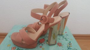 Guess Platform High-Heeled Sandal rose-gold-coloured