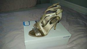 Guess Sandaletten Gold beige - einmal getragen, absolut glamourös high heels