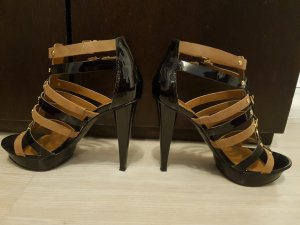 Guess Platform High-Heeled Sandal black-light brown