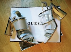 Guess High-Heeled Sandals gold-colored