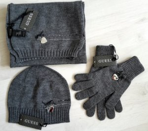 Guess Accessory grey-silver-colored wool