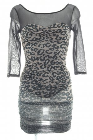 Guess Tube Dress black-grey brown animal pattern animal print