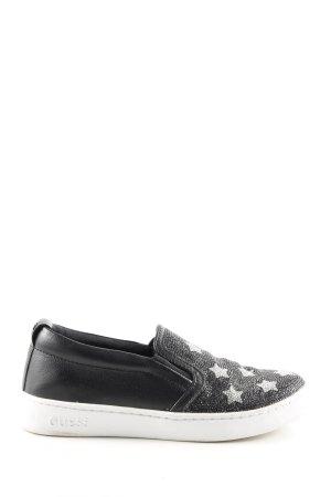 Guess Schlüpfsneaker schwarz abstraktes Muster Casual-Look