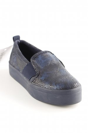 Guess Schlüpfsneaker dunkelblau-blau Animalmuster Reptil-Optik