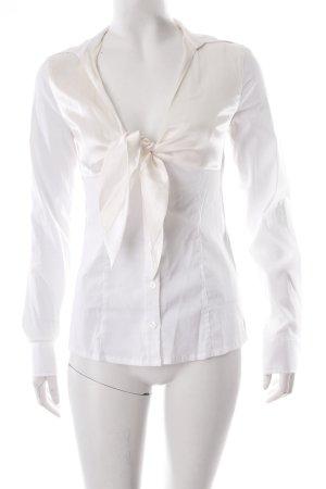 Guess Schluppen-Bluse creme-weiß schlichter Stil