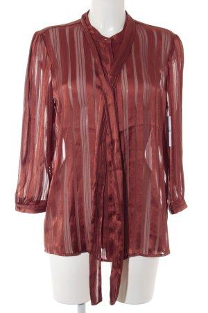 Guess Schluppen-Bluse rostrot Streifenmuster Elegant