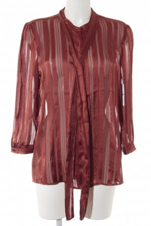 Guess Tie-neck Blouse russet striped pattern elegant