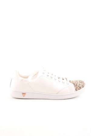 Guess Schnürsneaker wollweiß-goldfarben Casual-Look
