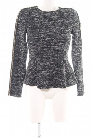 Guess Peplum Top black-white weave pattern casual look