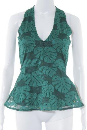 Guess Peplum top bos Groen bloemen patroon extravagante stijl