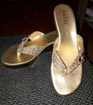 Guess Chanclas color bronce-color oro