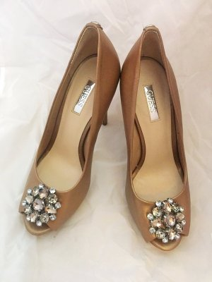 Guess Tacones altos nude-color plata