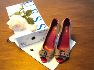 Guess by Marciano Peep Toe Pumps light brown-magenta suede