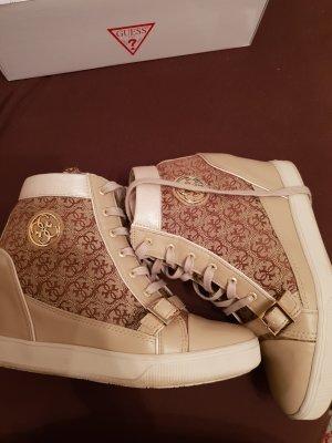 Guess Zapatillas altas color oro