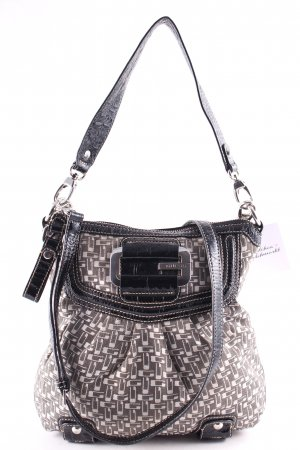 Guess Shoulder Bag monogram pattern retro look
