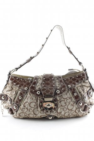 Guess Schultertasche Monogram-Muster Retro-Look