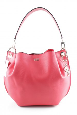 Guess Bolsa de hombro rojo-color plata look casual