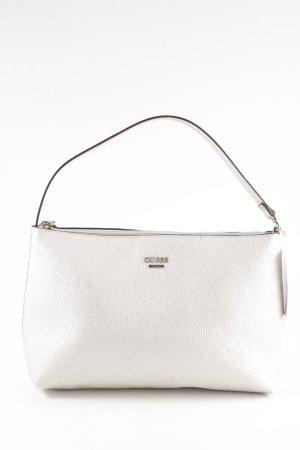 Guess Bolsa de hombro color plata elegante