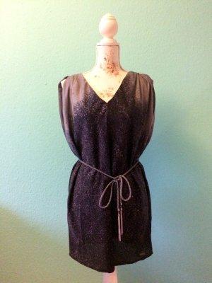 Guess - schwarz-graues Kleid/Top mit Bindegürtel - Größe S