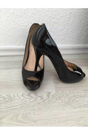 Guess schwarz lack High Heels pumps gr 37