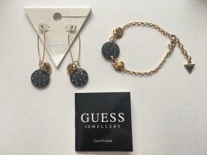 Guess Set vergoldete Ohrringe und Armband mit Zertifikat