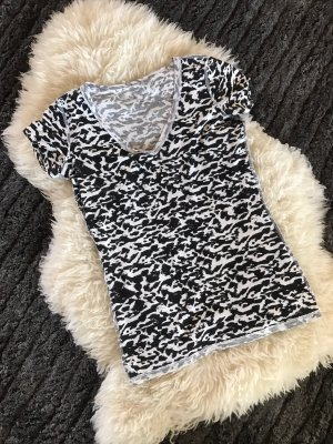 Guess Top extra-large noir-blanc