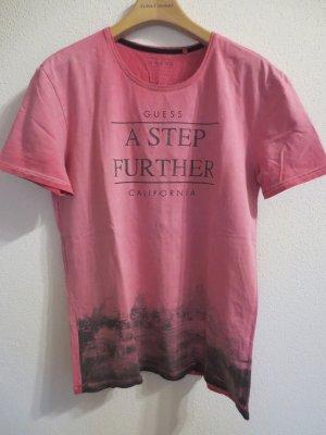 Guess Shirt in Pink, Boyfriend, Aufdruck, Gr. M