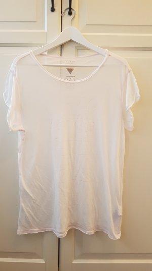 Guess Shirt leicht weiss rosa mit zartem Aufdruck