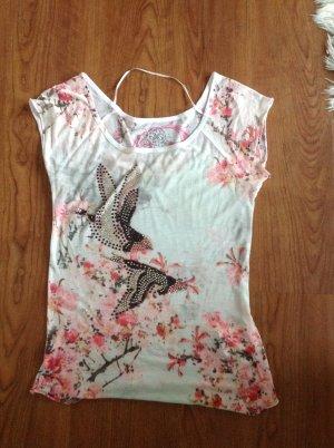 Guess Camicia fantasia rosa-grigio chiaro