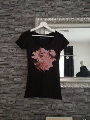 Guess Shirt schwarz Aufdruck rot XS