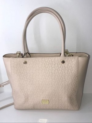 Guess Shopper oatmeal-cream imitation leather
