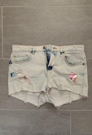 Guess Pantaloncino di jeans blu pallido