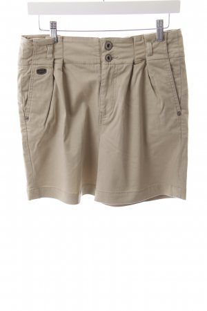 Guess Shorts sandbraun Logo-Applikation aus Metall