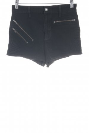 Guess Shorts negro brillante