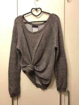Guess silberner Pullover mit Löchern - Luxury