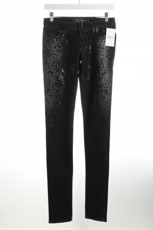 Guess Skinny Jeans Animalmuster Logo-Applikation aus Leder
