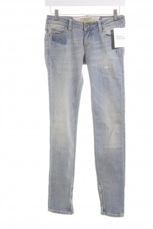 Guess Skinny Jeans blassblau Washed-Optik