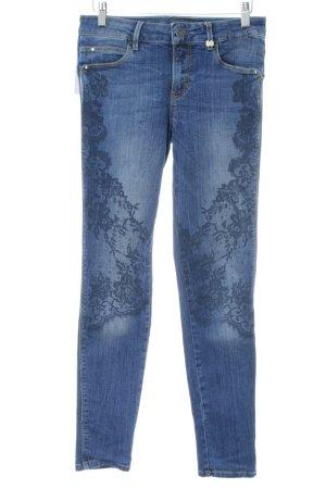 Guess Skinny Jeans blau Blumenmuster Casual-Look