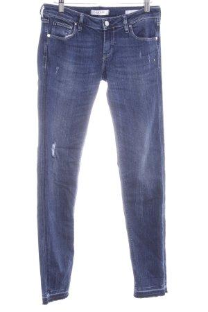 Guess Jeans skinny blu scuro aspetto di seconda mano
