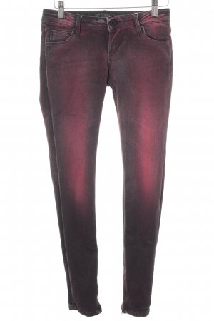 Guess Skinny Jeans dunkelrot-schwarz Casual-Look