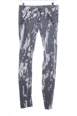 Guess Skinny Jeans grau Farbtupfermuster Washed-Optik