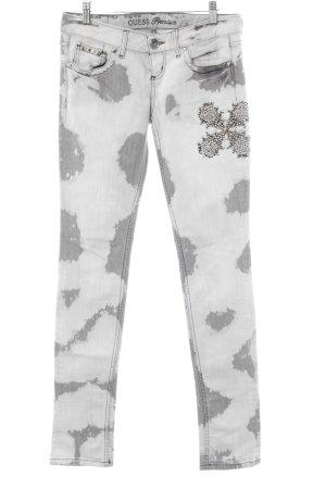 Guess Vaquero skinny gris claro-gris estampado con puntos de colores look casual